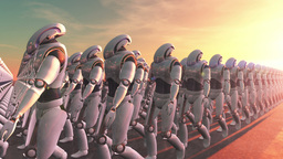 Robot Marching Animation