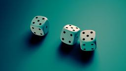 dice with blue background Animation