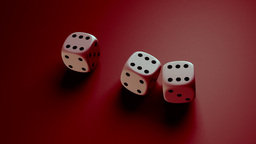 dice with red background Stock Video Footage