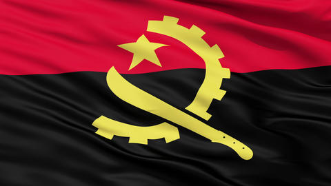 Waving Falg Of Angola Animation