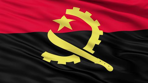Waving Falg Of Angola Animation