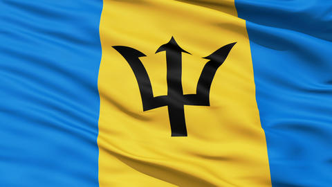 Fluttering Flag Of Barbados Animation