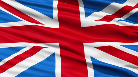 Flag United Kingdom Of Great Britain Stock Video Footage