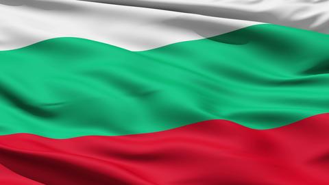 Waving Flag Of Bulgaria Animation