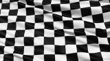 Fluttering Black And White Chequered Flag stock footage