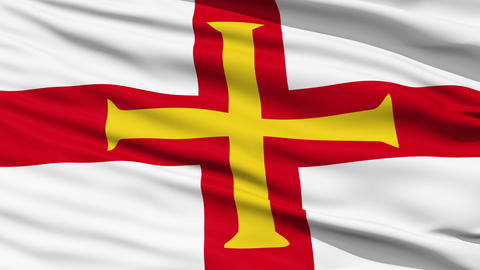 Flag Of The Bailiwick Of Guernsey Stock Video Footage