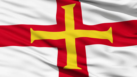 Flag Of The Bailiwick Of Guernsey stock footage