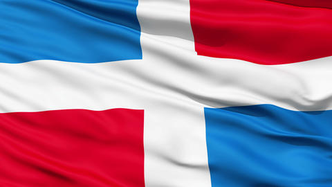 Civil Ensign Of Dominican Republic Stock Video Footage