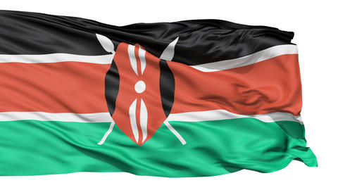 Flying Flag Of Kenya Animation
