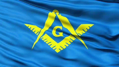 The Masonic Flag Of Freemasonry Stock Video Footage