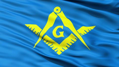 The Masonic Flag Of Freemasonry Animation