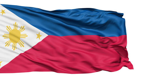 Flying Flag Of The Philippines Animation