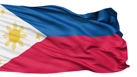 Flying Flag Of The Philippines Stock Video Footage