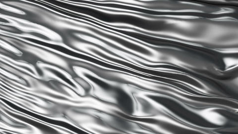 Luxurious Rippled Silver Fabric Stock Video Footage