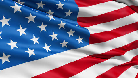 Waving Flag United States Of America Stock Video Footage