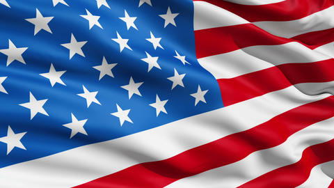 Waving Flag United States Of America stock footage
