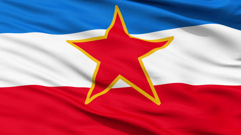 Flag of Socialist Federal Republic of Yugoslavia Animation