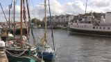 Ferry In Bristol 2 U K stock footage
