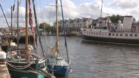 Ferry in Bristol 2 u k Stock Video Footage