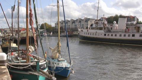 Ferry in Bristol 2 u k Stock Video Footage