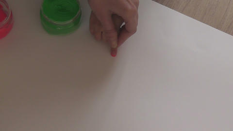 children painting 01 Stock Video Footage