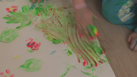 children painting 16 Stock Video Footage