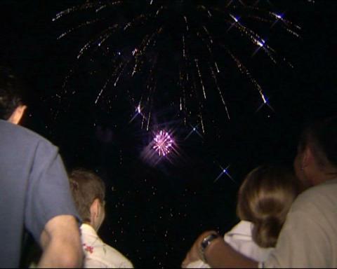 Firework peoples look Stock Video Footage