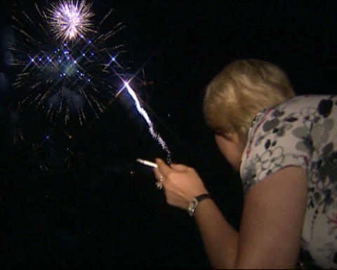 Firework women look Stock Video Footage