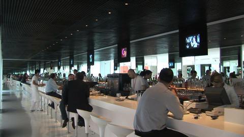hotel lobby bar Stock Video Footage