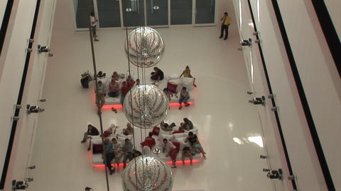 hotel hall with ball Stock Video Footage