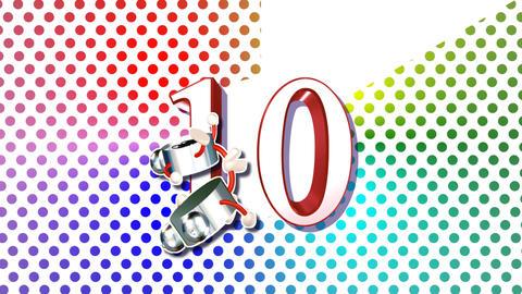 CountDown Clock 10E2 HD Stock Video Footage