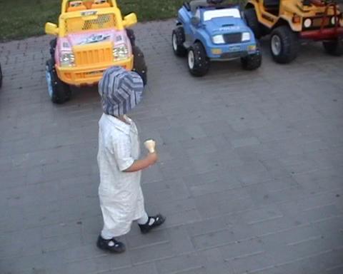 boy walk Stock Video Footage