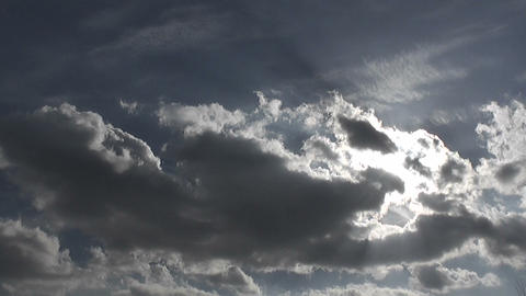 clouds with sun Stock Video Footage