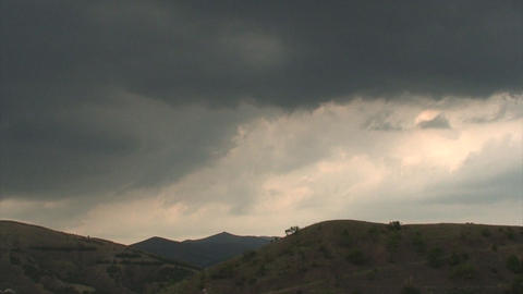 clouds with mountain Stock Video Footage