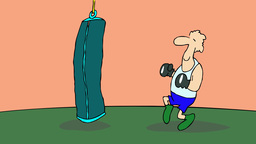REVENGE OF THE PUNCHING BAG Stock Video Footage