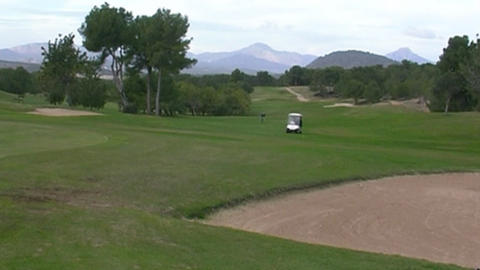 Golf buggy Stock Video Footage