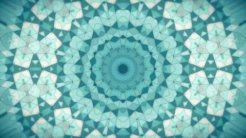 Abstract Animation With Geometric Kaleidoscope Pat stock footage