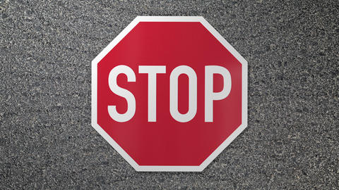 Stop sign smash with shocking impact effect Animation