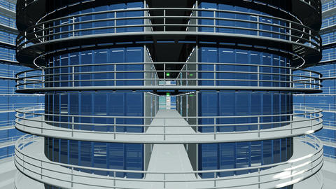 4 K Ultra Modern Data Center 3 D Animation 1 Animation