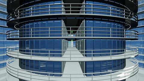 4 K Ultra Modern Data Center 3 D Animation 1 Animation