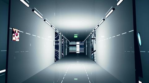 Ultra Modern Building Corridor 3 D Animation 4 Animation
