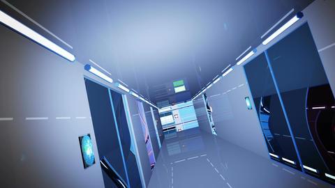 Ultra Modern Building Corridor 3 D Animation 6 Animation