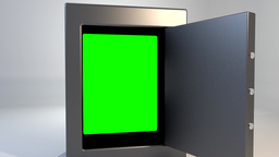 Safe vault closing greenscreen valuable security o Animation