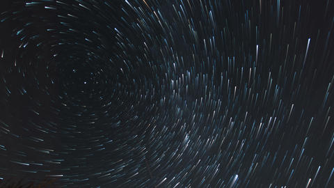 4k UHD star trail time lapse stars and cloud 11589 Footage