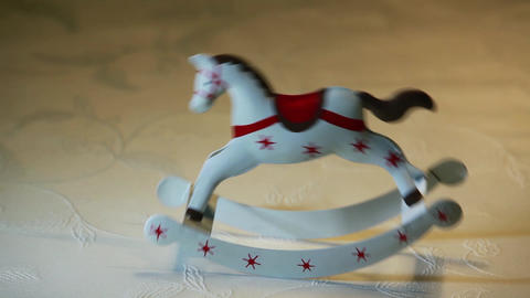 rocking horse Stock Video Footage