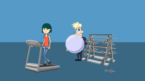 Day at the Gym Animation: Looping Animation