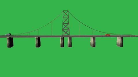 Animated Large Bridge (No Water): Matte + Loop Animation