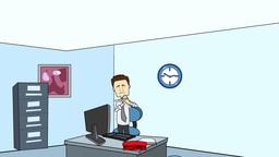 Cartoon Businessman on Phone Animation