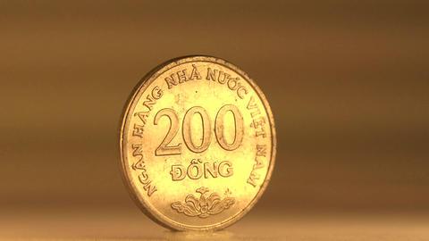 200 Dong Vietnam Money stock footage
