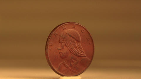 1 Cent Coin of Panama Footage